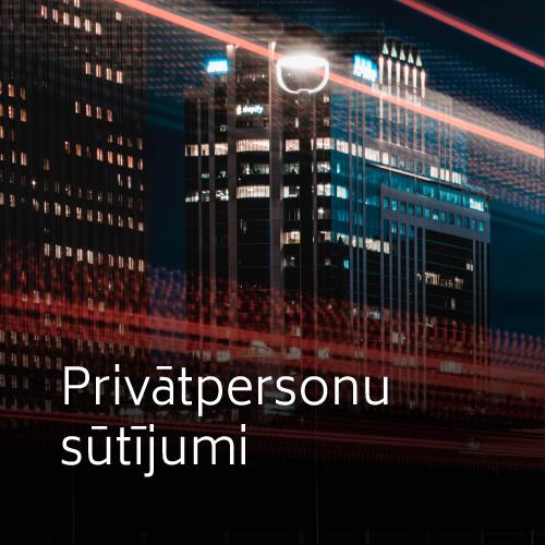 Privātpersonu sūtījumi