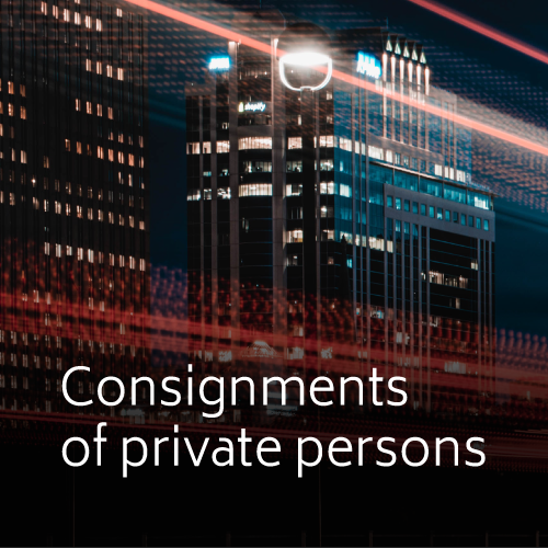 Consignments of private persons